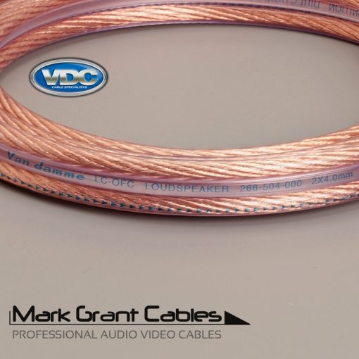 Van Damme 2 x 4mm Hi-Fi Speaker Cable UP-LCOFC - Unterminated 268-504-000