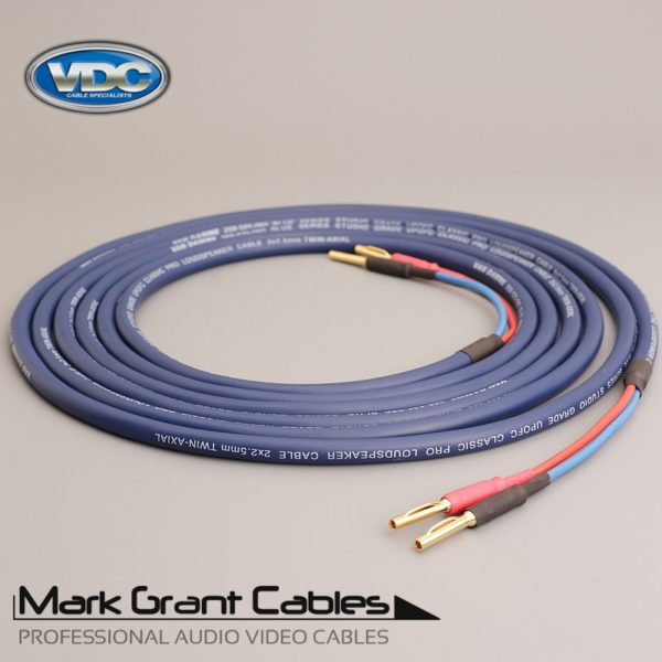 Van Damme 2.5mm Blue Studio Grade - Terminated