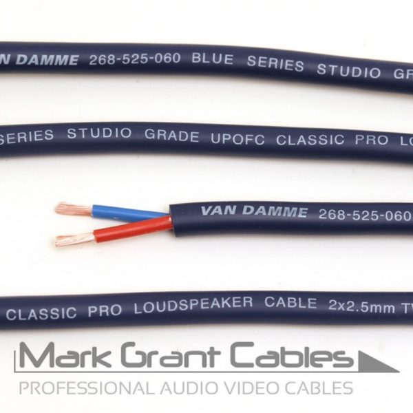 Van Damme Blue Series Studio Grade 2 x 2.5 mm - unterminated